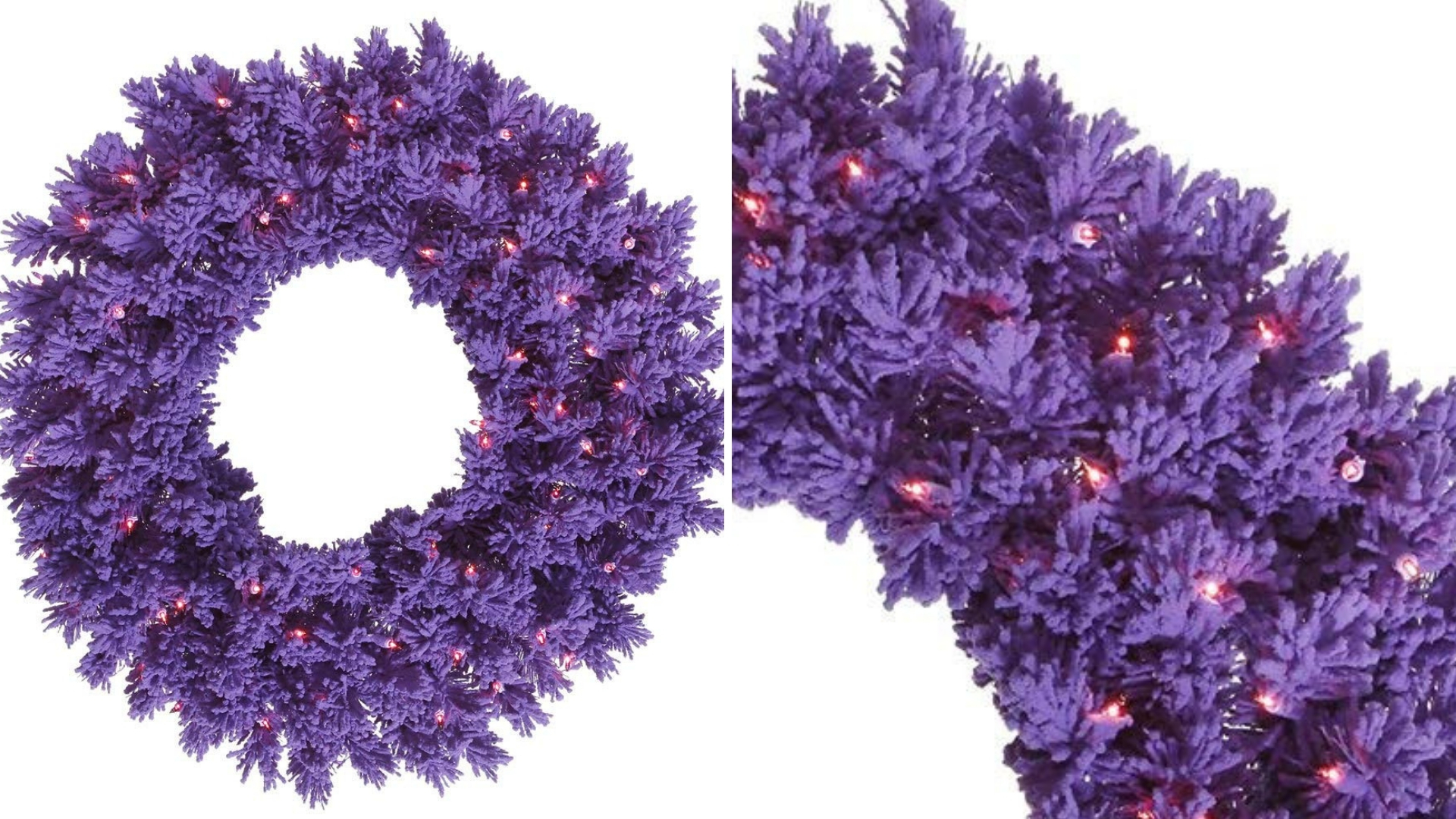 purple artificial christmas wreath