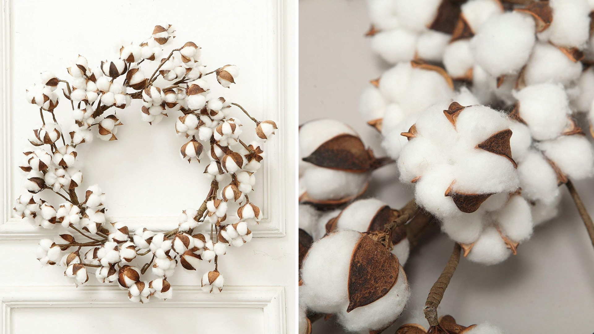 real cotton vintage style Christmas wreath