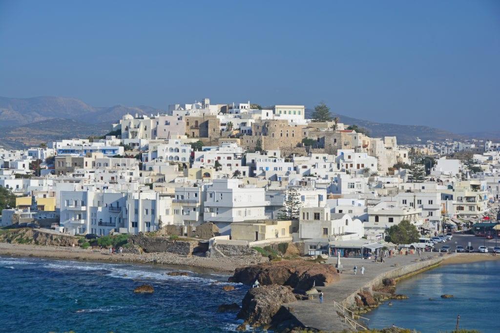 the beautiful island of naxos in greece