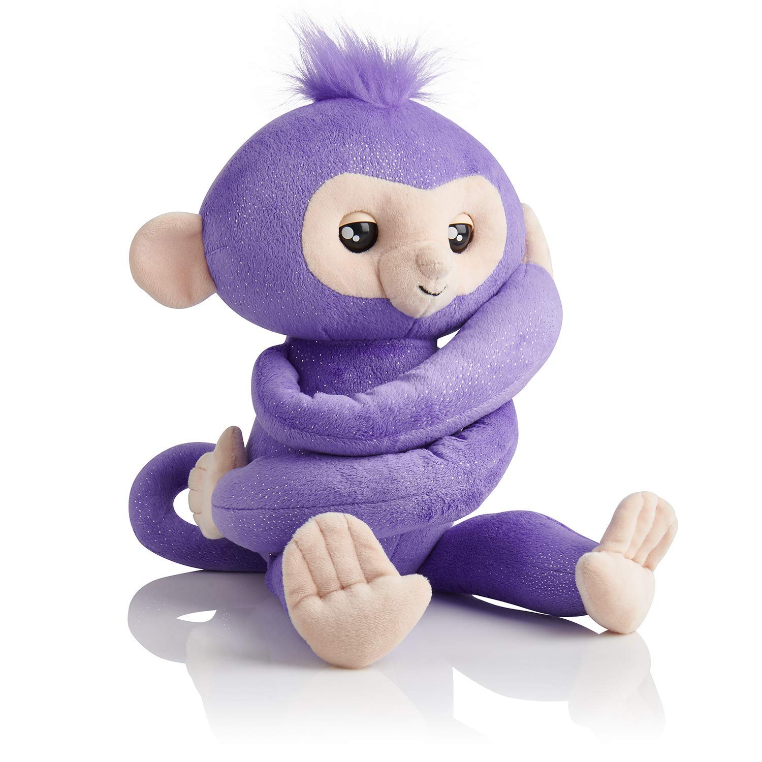 the best holiday toys on the market | a purple fingerlings hugs