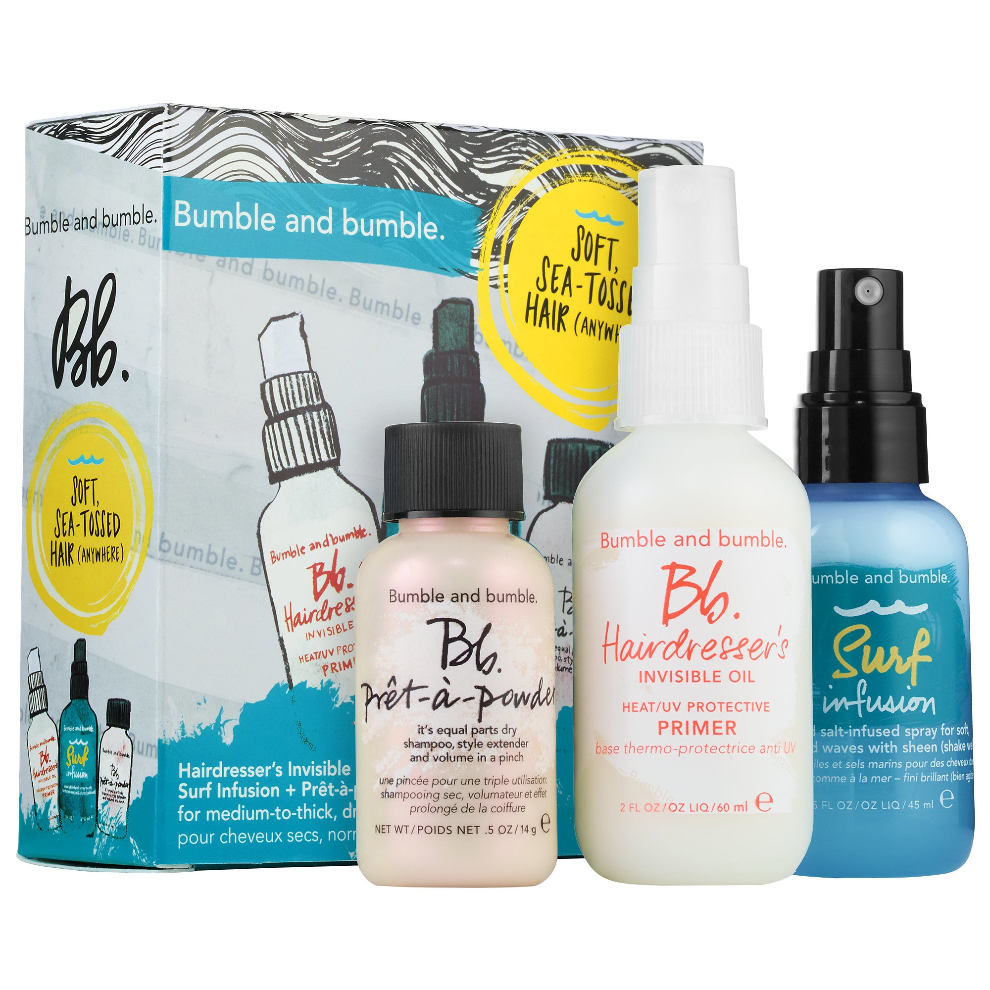 Have a beauty loving traveler in your life? Consider this Bumble and Bumble travel sized hair kit