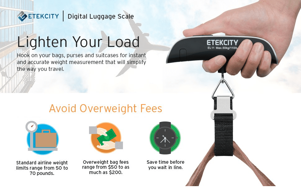 Need a good, affordable gift for a travel lover? Consider a luggage scale