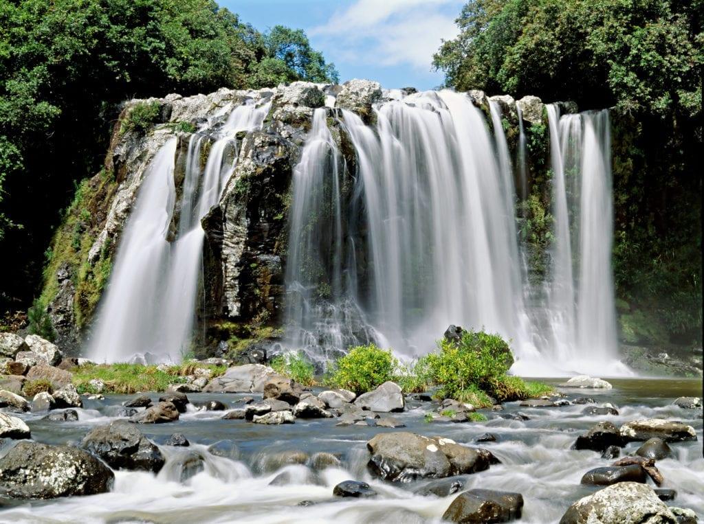 waterfalls in beautiful reunion island