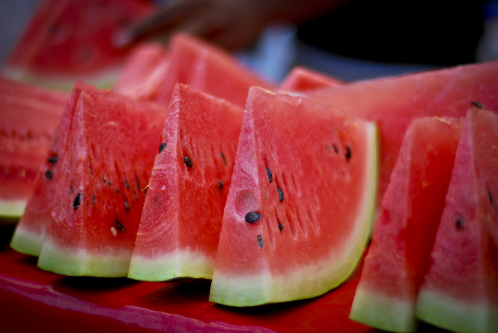 watermelon slices an almost zero calorie food