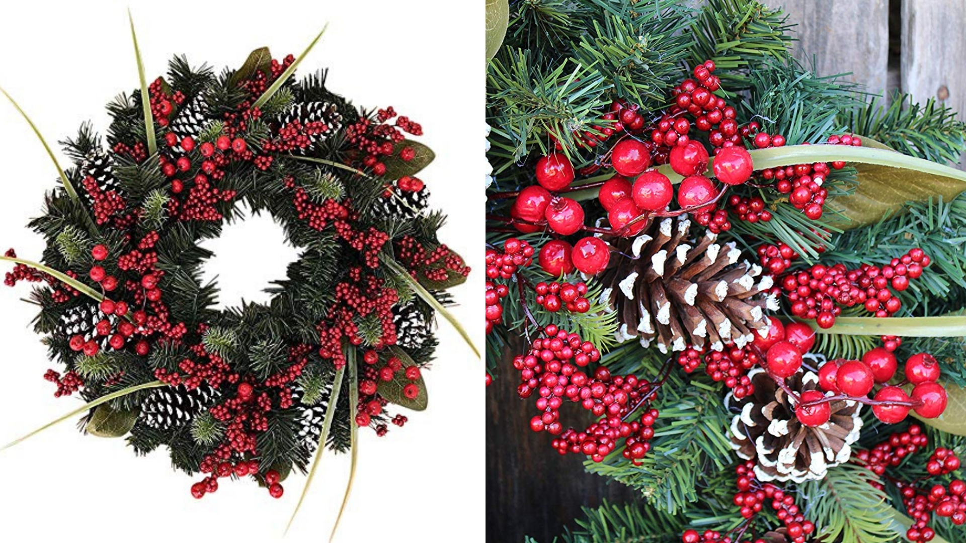winter berry christmas wreath