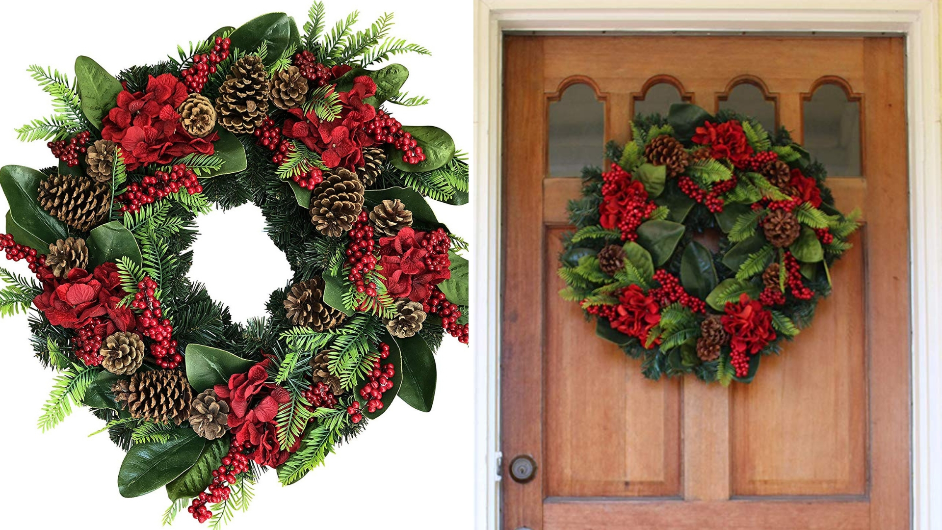 winter christmas wreath for the holidays
