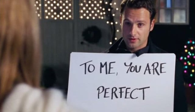 Love Actually 'to me, you are perfect' scene