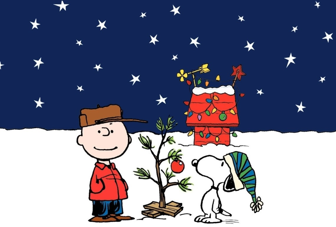 Charlie Brown and his infamous Christmas tree