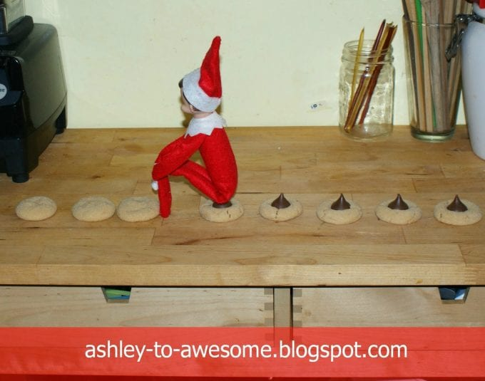 """The elf left chocolate chip """"poop"""" on the cookies!"""