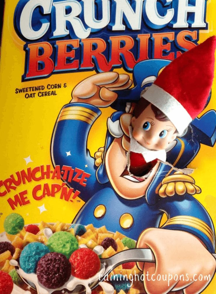 He's hiding in a box of Captain Crunch