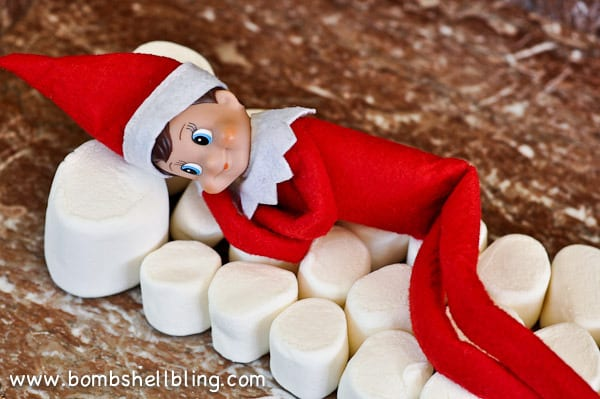 The Elf made a bed of marshmallows