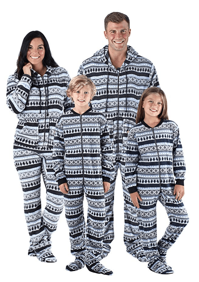 fleece penguin fairisle are the best matching family christmas pajamas