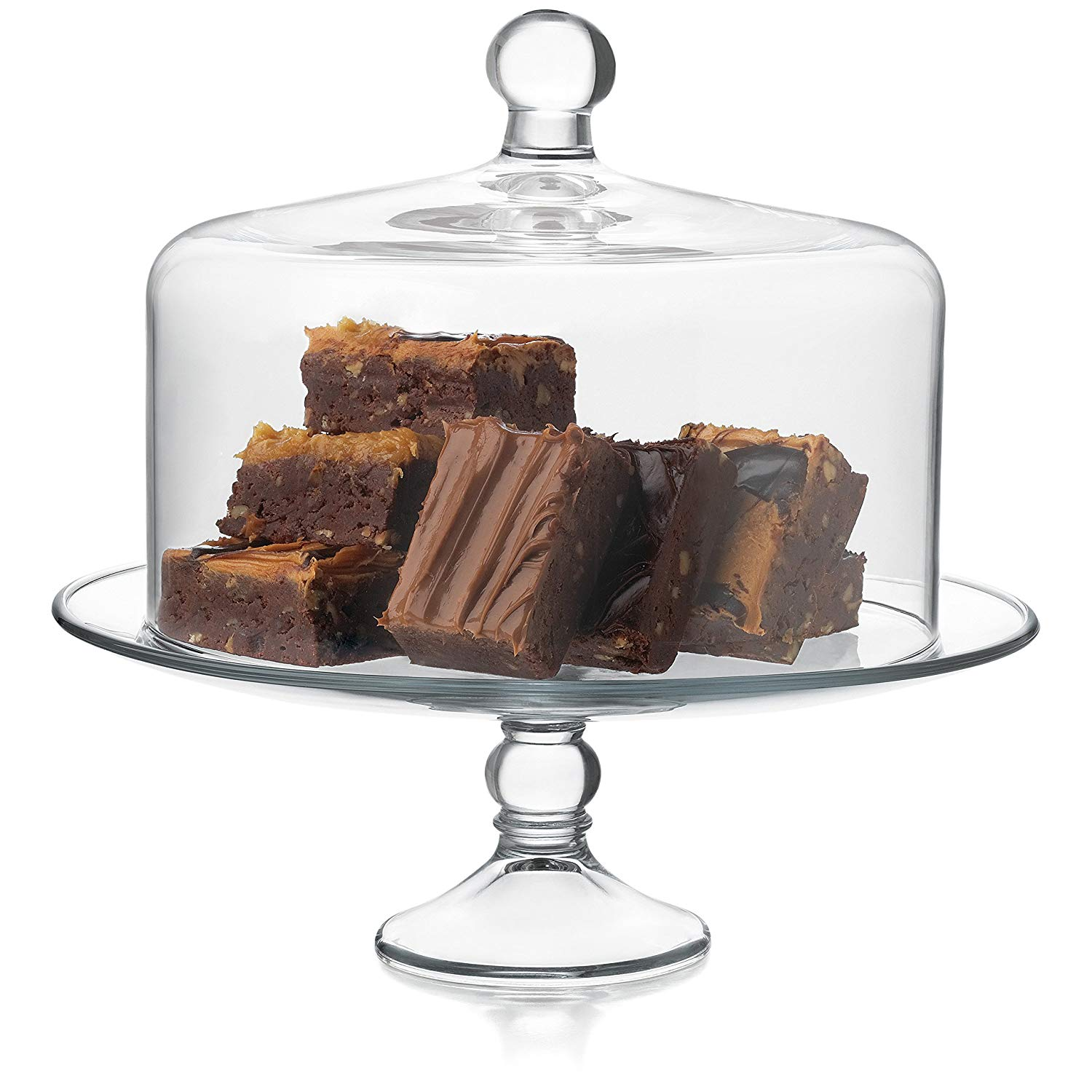 gifts for mom that likes to bake, libby selene glass cake stand with dome