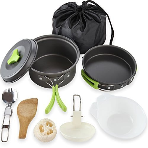 gifts for mom that likes the outdoors, camping cookware kit