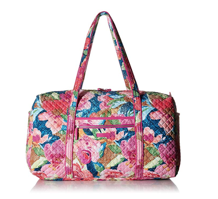 gifts for mom that travels, vera bradley iconic large travel duffel