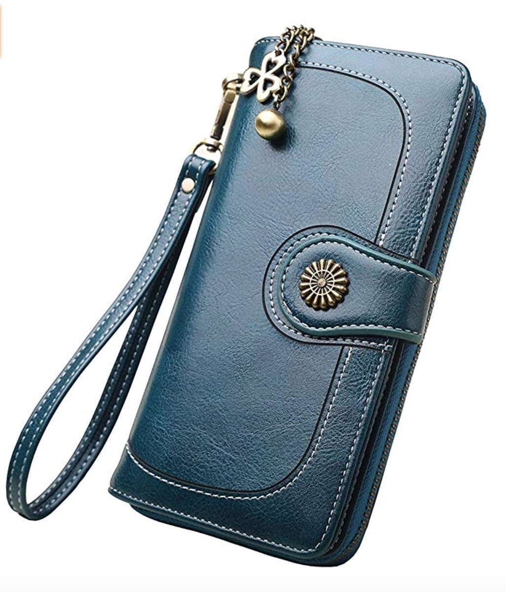 gifts for mom to keep her money safe. large leather wallet