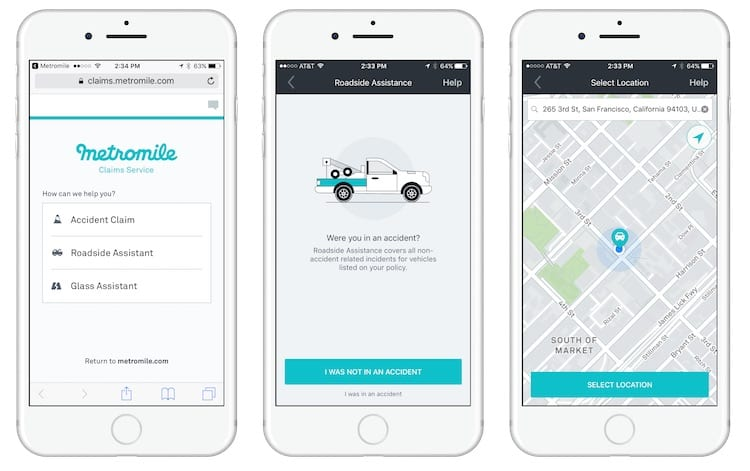 Submitting a claim through Metromiles app is simple