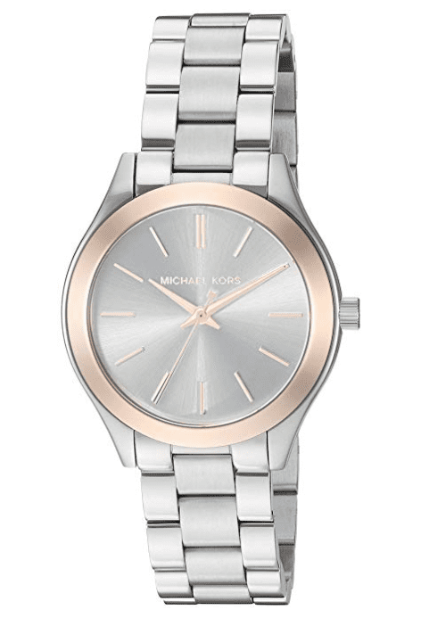 michael kors women's mini slim runway silver-tone watches are top gifts for mom