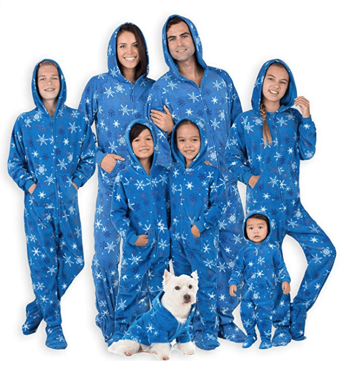 snow blizzard are a great set of matching chirstmas pajamas