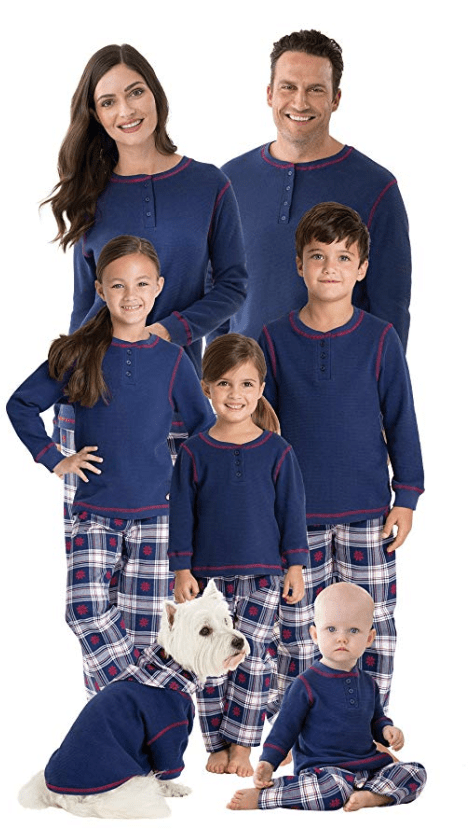 snowfall plaid matching family chirstmas pajamas