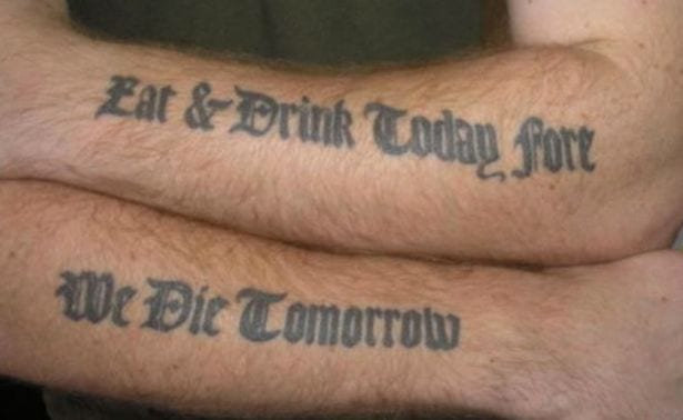 tattoo spelling mistakes before