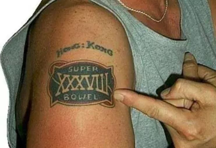 tattoo spelling mistakes super bowl
