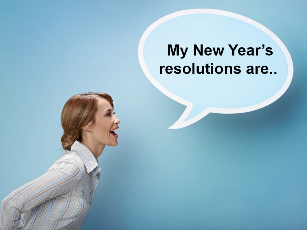 tell people about your new years resolutions to help you keep them