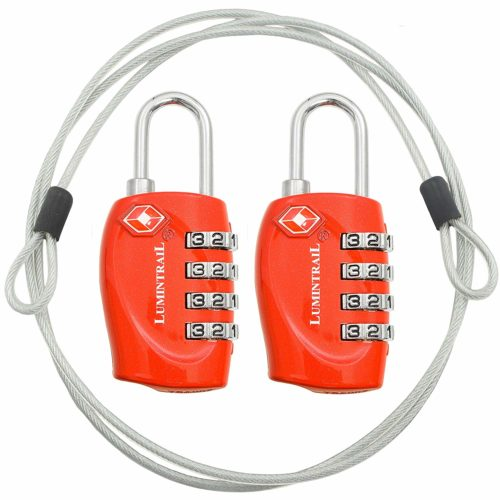lumintrail digit combination lock steel cable