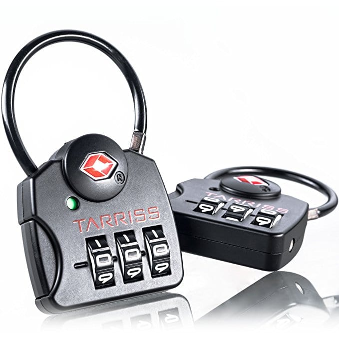 tsa approved locks luggage locks tarriss lock digit combination search alert
