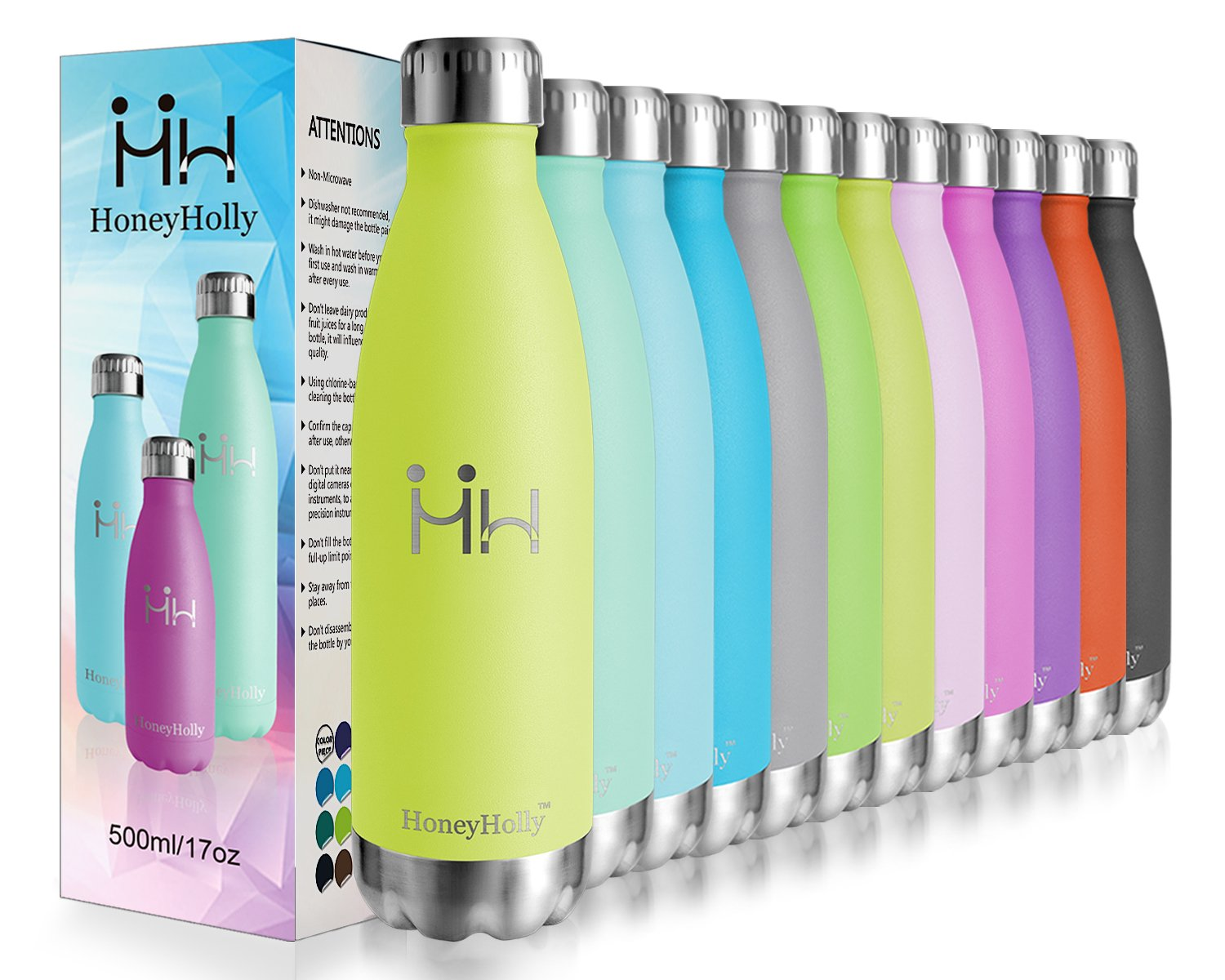 Top 5 reusable water bottles HoneyHolly