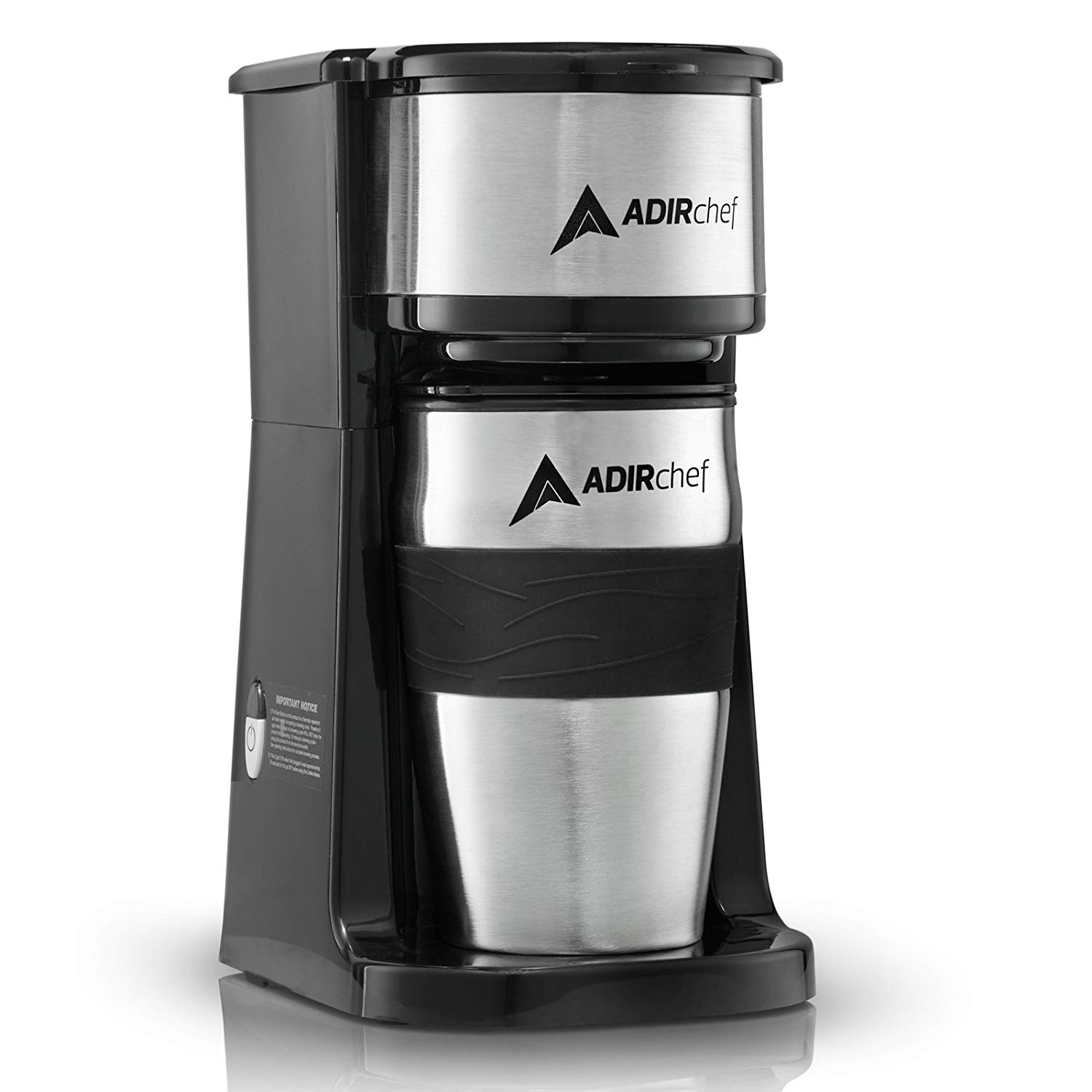 AdirChef Grab N' Go Personal Coffee Maker with Travel Mug