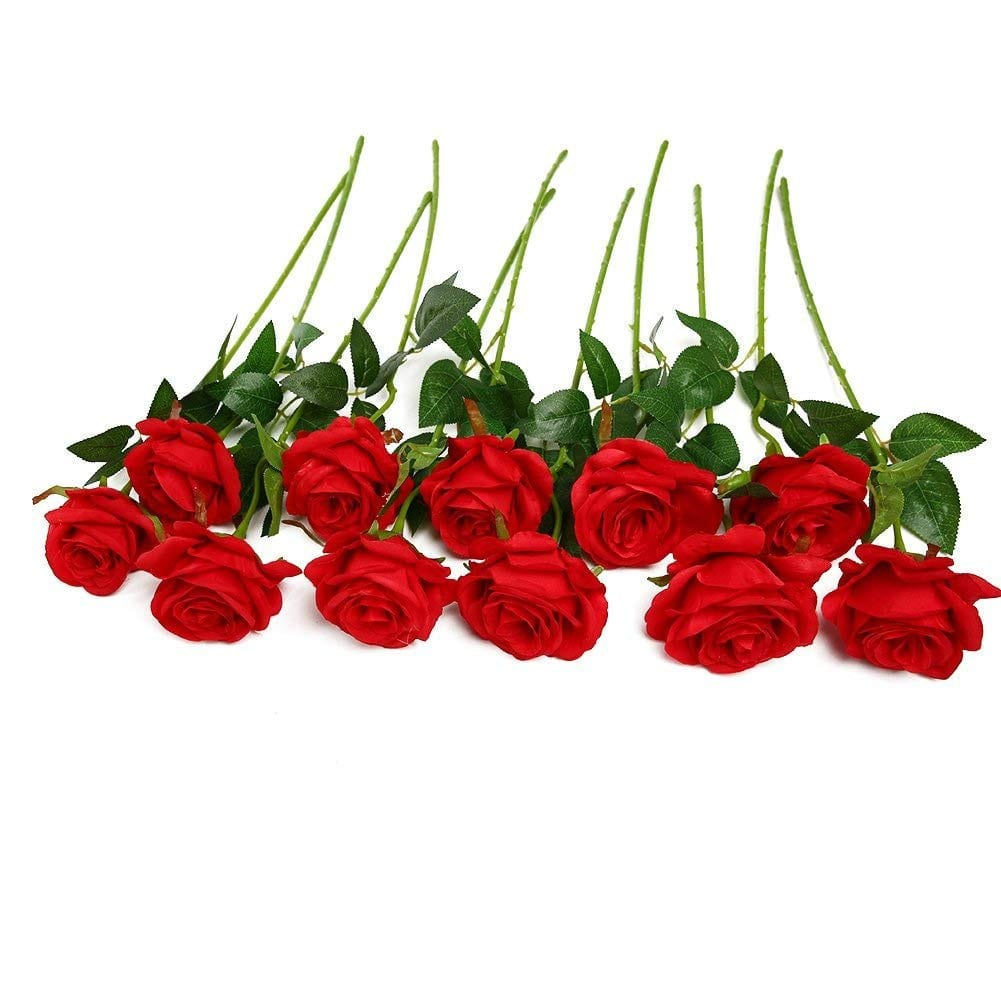 artificial silk roses