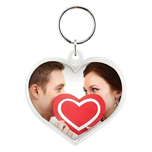 best budgetvalentines gift for her heart picture frame keychain