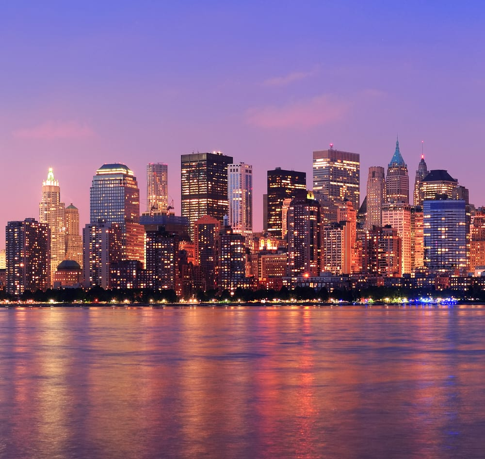 New York City Manhattan dusk panorama a perfect winter vacation in USA