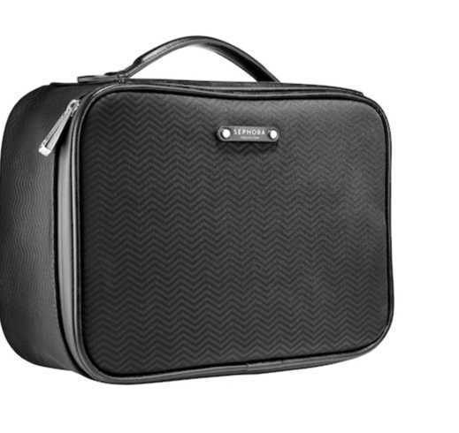 Sephora black toiletry bag
