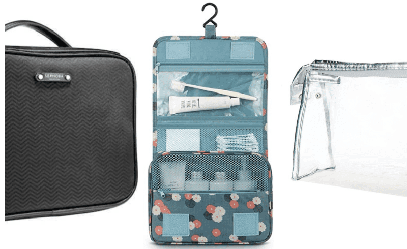 Image of three different types of toiletry bags