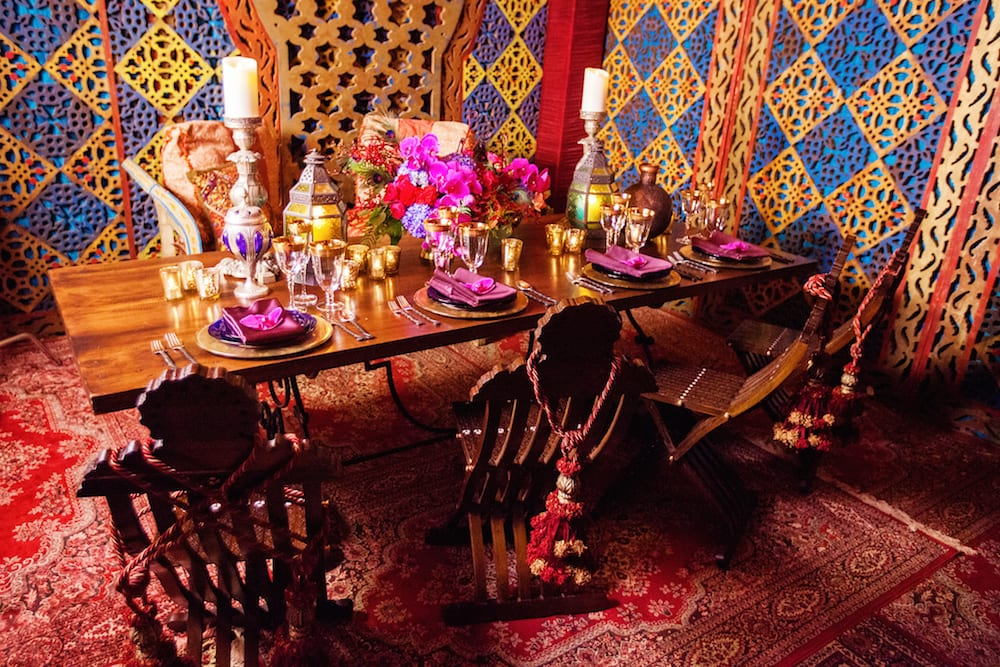 disney inspired weddings arabian nights table