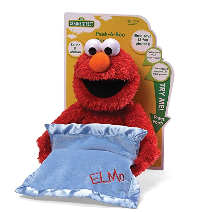 elmo toys sesame street peek a boo elmo plush toy