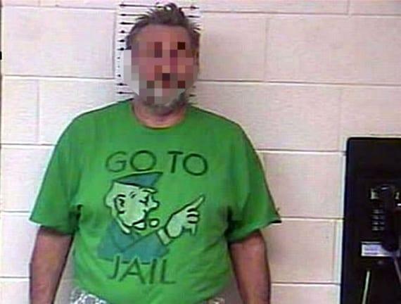 funny mugshot tshirts go to jail