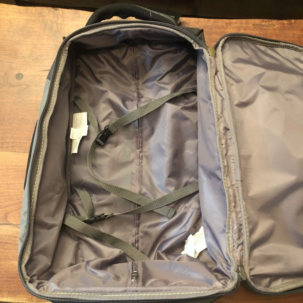 high sierra at3 carry-on wheeled backpack interior