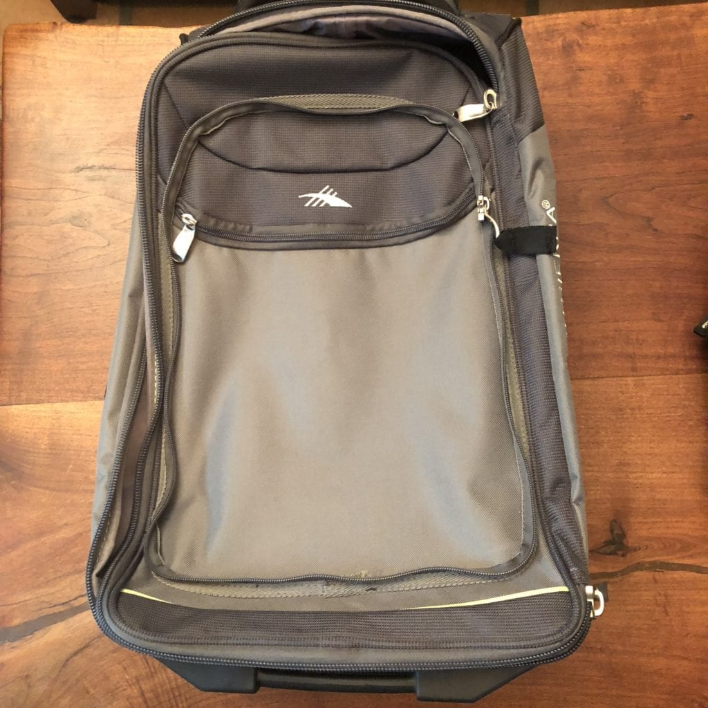 high sierra at3 carry-on wheeled backpack main bag exterior