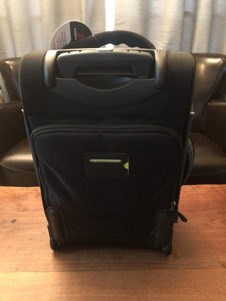 high sierra at3 carry-on wheeled backpack rear