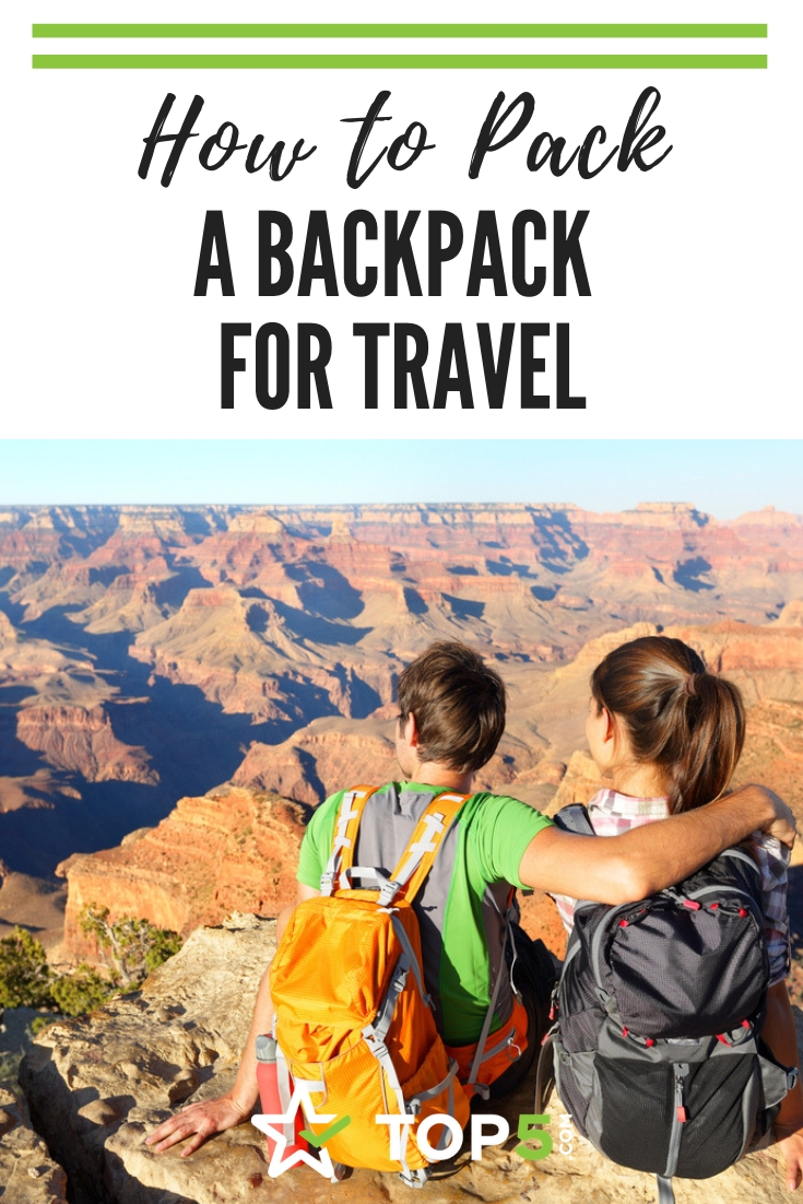 how to pack a backpack for travel