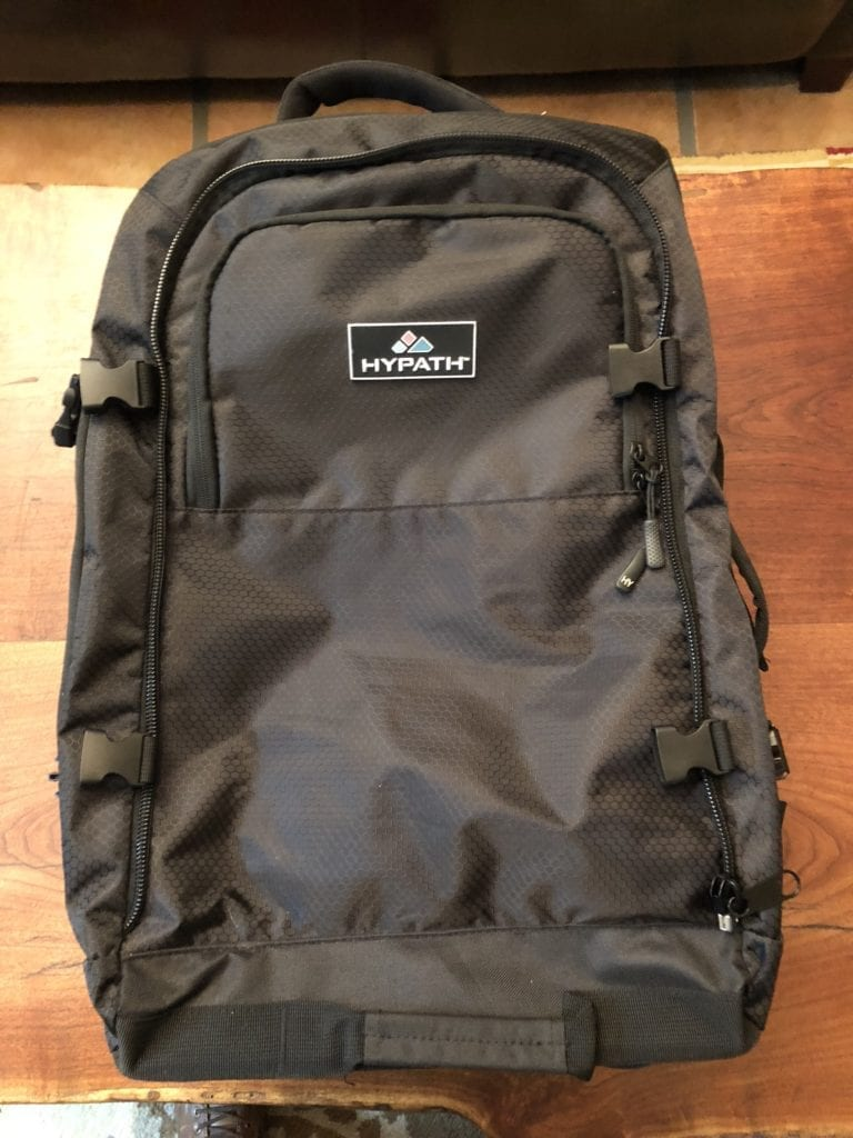 hypath 2-in-1 convertible travel bag daypack main pocket