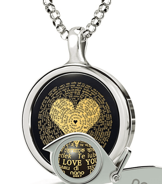i love you necklace in 120 languages