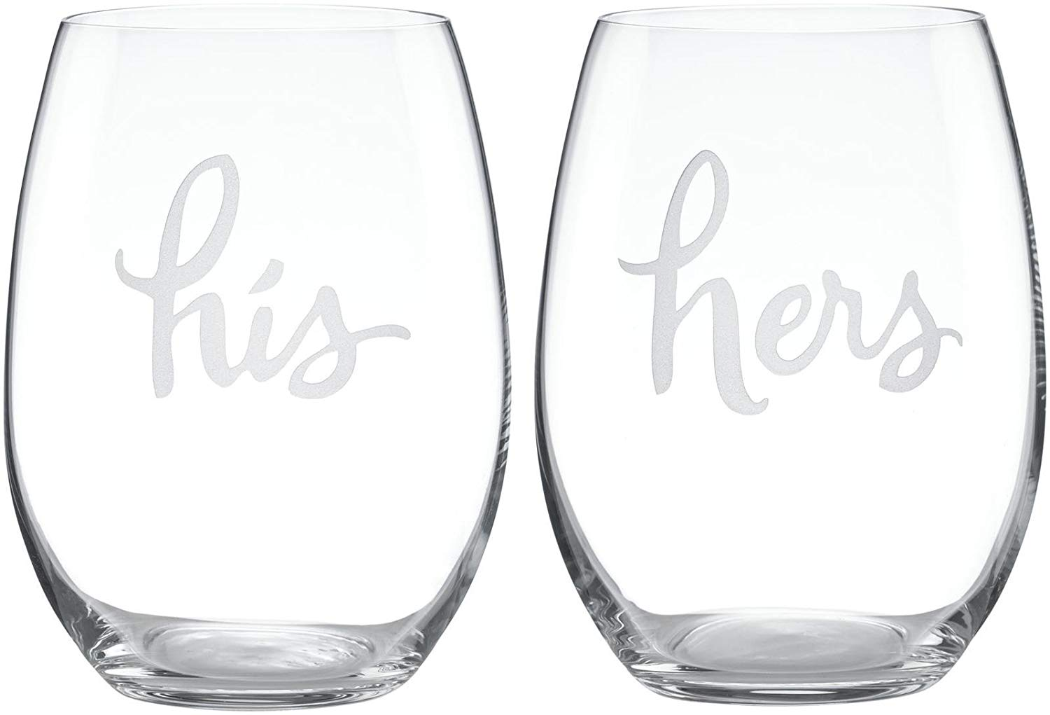 kate spade new york two of a kindstemless his and hers wine glass pair