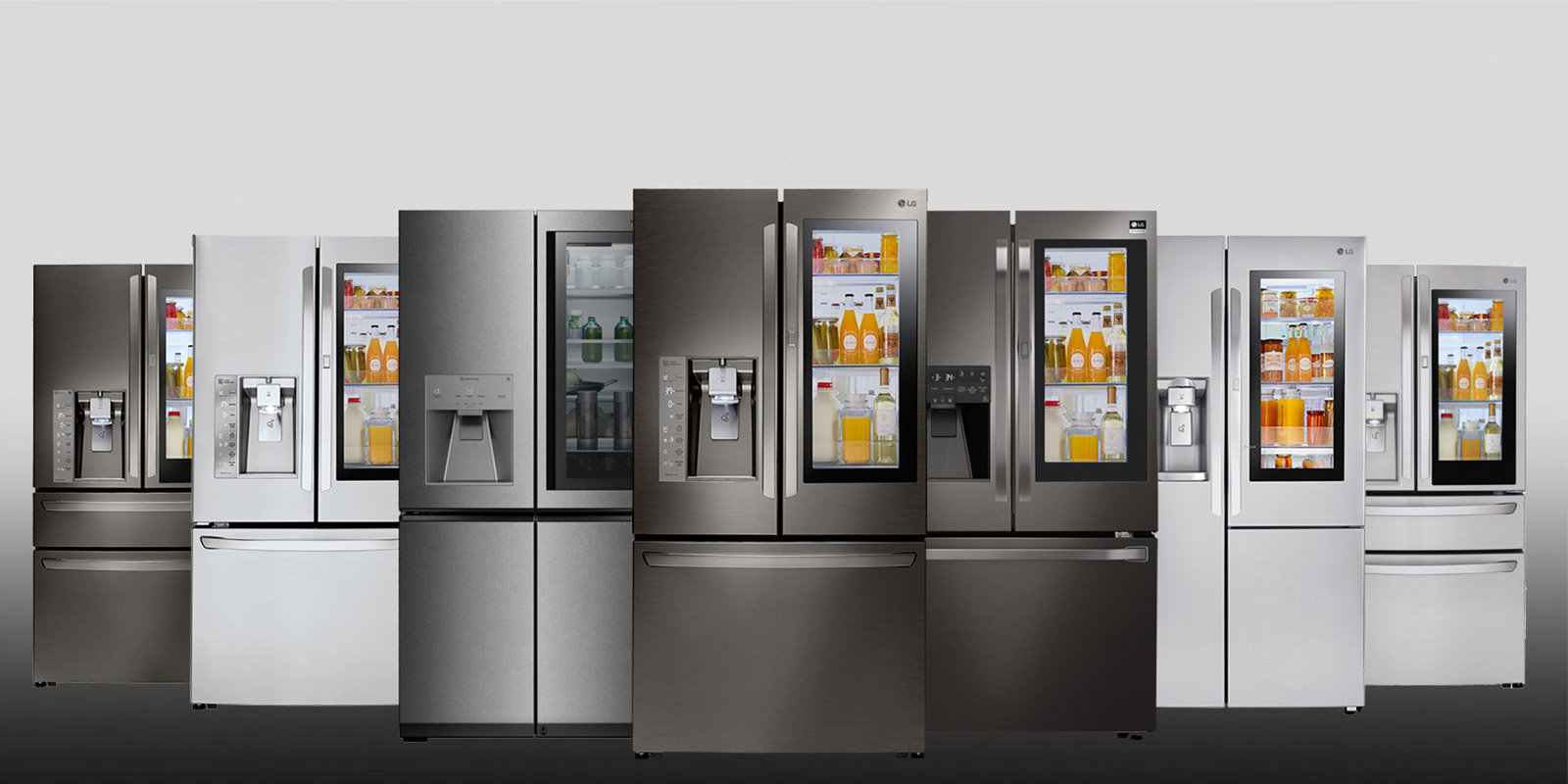 lg insta view door in door refrigerator
