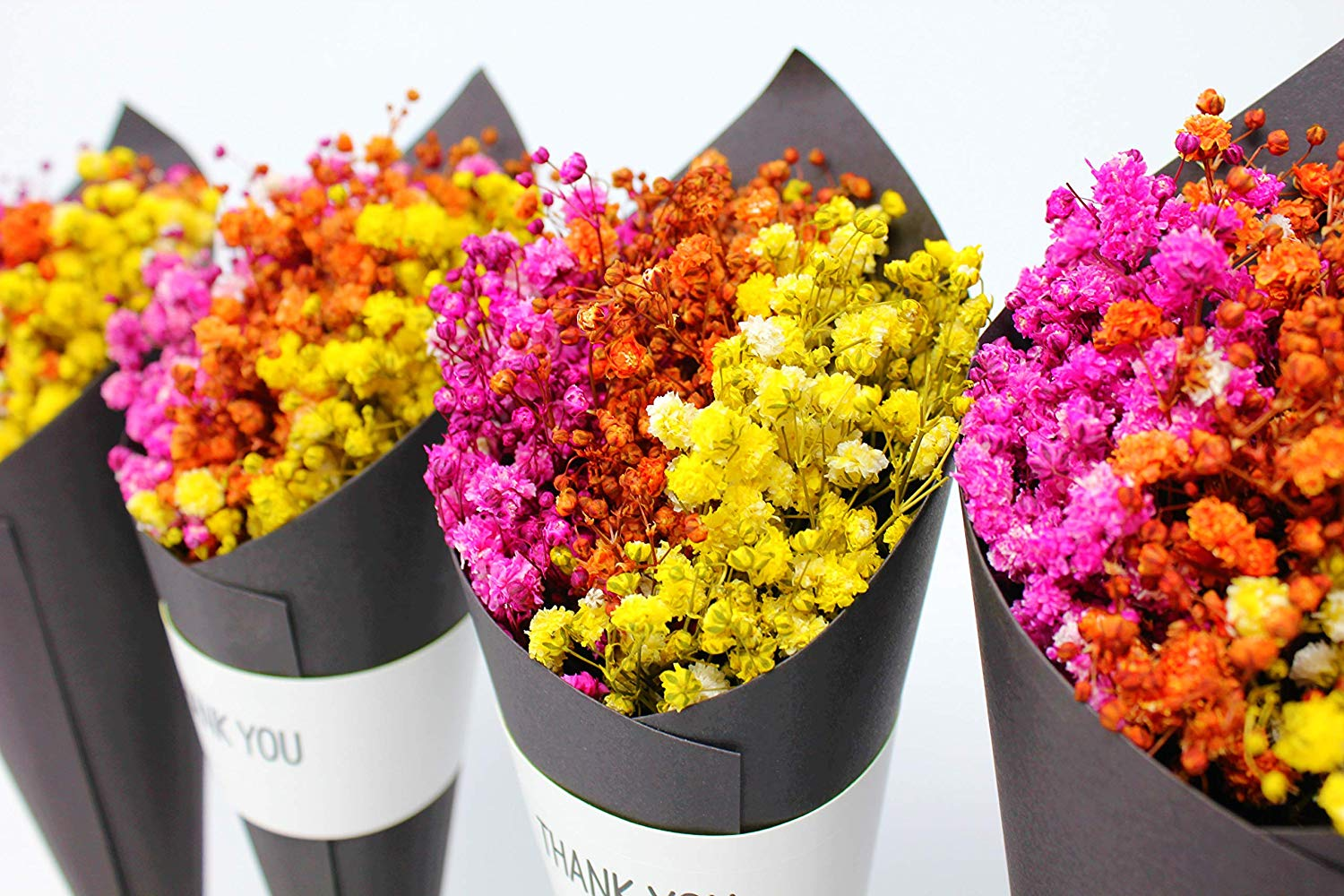 natural dry mini flower arrangements