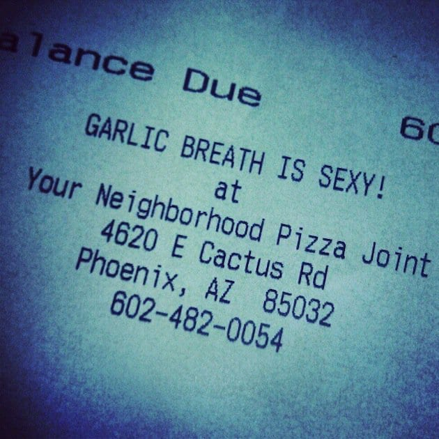 Garlic breath is sexy