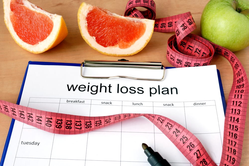weight loss plan and grapefruit as part of a new years resolution
